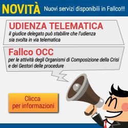 Novità: Udienze telematiche e Fallco OCC
